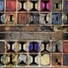 fragment fotografii przedstawiającej farby artysty