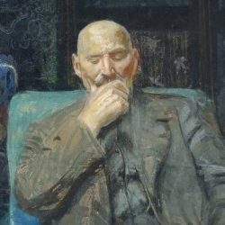 Leon Wyczółkowski, Autoportret, 1913r., MOB W. 13