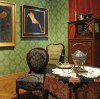 fragment fotografii ukazyjącej salon zielony w muzeum w Bydgoszczy