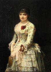 Leon Wyczółkowski, Portret kobiety z różą, 1885, MOB W. 459