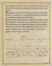 The act of granting the title of honorary member of the Society of the Friends of the History and Historic Sites of Krakow, 1921, MOB Wb. 189_5