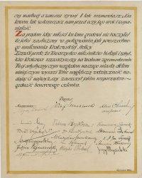 Akt nadania tytułu honorowego członka Towarzystwa Miłośników Historii i Zabytków Krakowa, 1921, MOB Wb. 189_4,  189_5