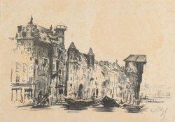 Leon Wyczółkowski, Long Riverbank, Gdańsk, 1907-09, MOB W. 561