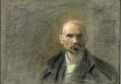 Leon Wyczółkowski, Autoportret, 1897, MOB W. 451